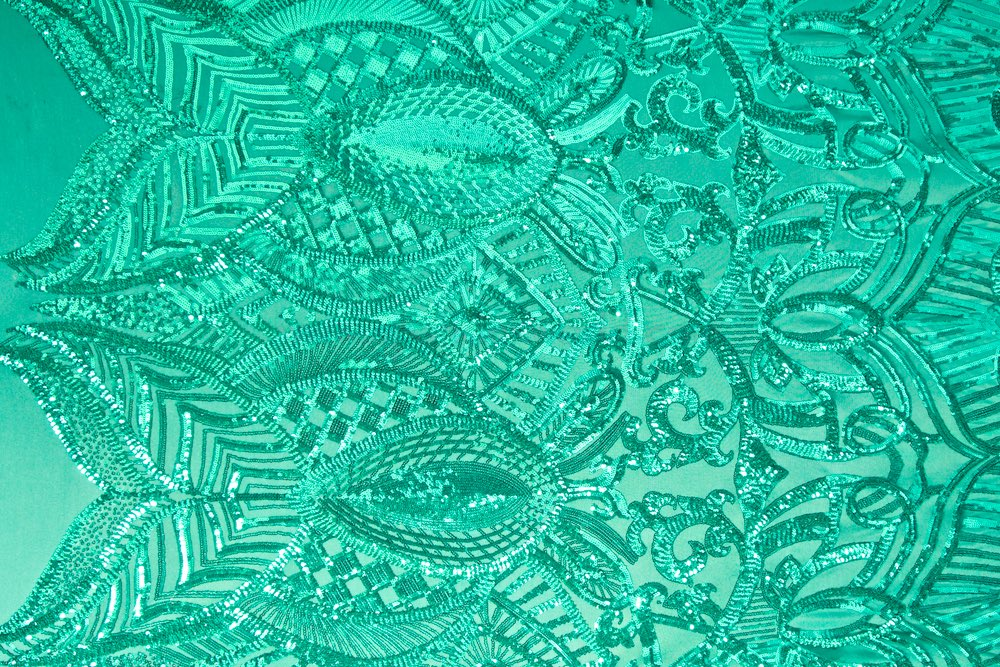 Stretch Sequins (Green/Green)