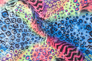 Animal Print Stretch Velvet (Black/Blue/Pink/Multi)