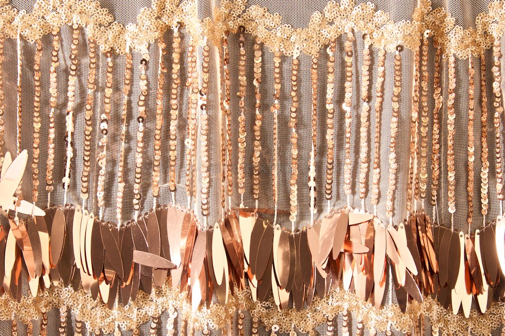 Non-Stretch Fringe Sequins(Nude/Mauve)