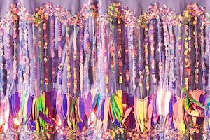 Non-Stretch Fringe Sequins (Purple/Reflective Pearl)
