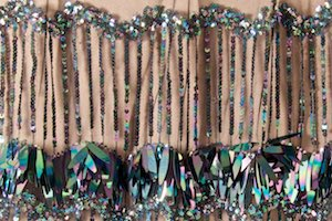 Non-Stretch Fringe Sequins (Black/Black Reflective Pearl)
