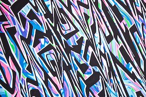 Abstract Print Spandex (Blue/Pink/Black/Multi)