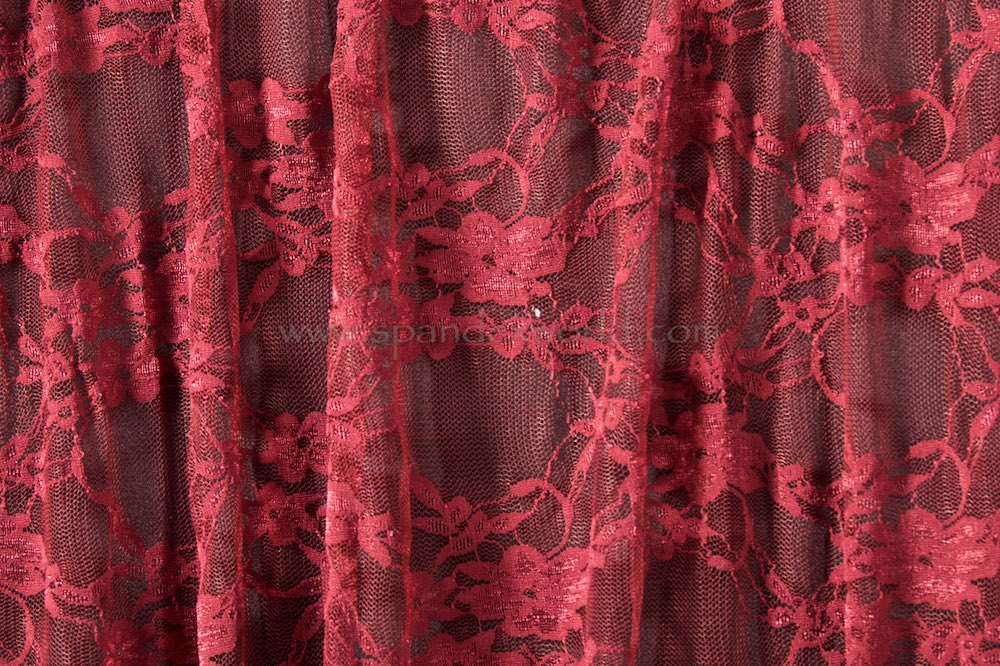 Stretch Lace (Burgundy)