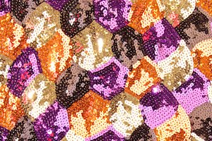 Non-Stretch Sequins (Copper/Purple/Gold/Multi)