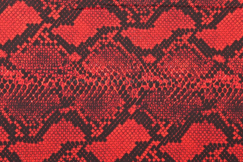 Snake Prints (Red/Black)