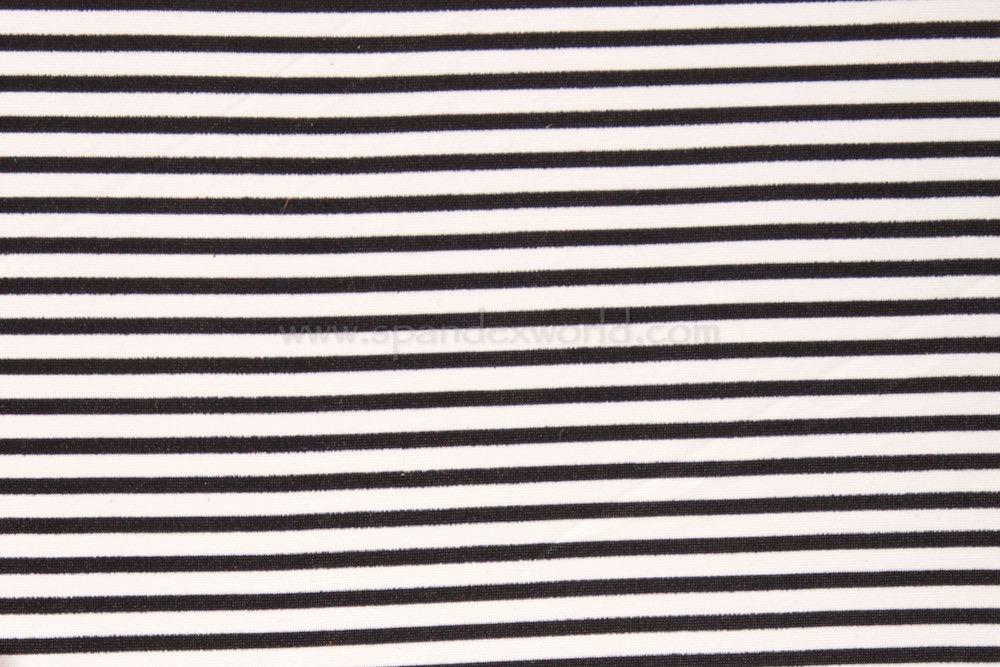 Printed Stripes (Black/Off White)
