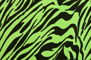 Animal Print Stretch Velvet (Neon Lime/Black)