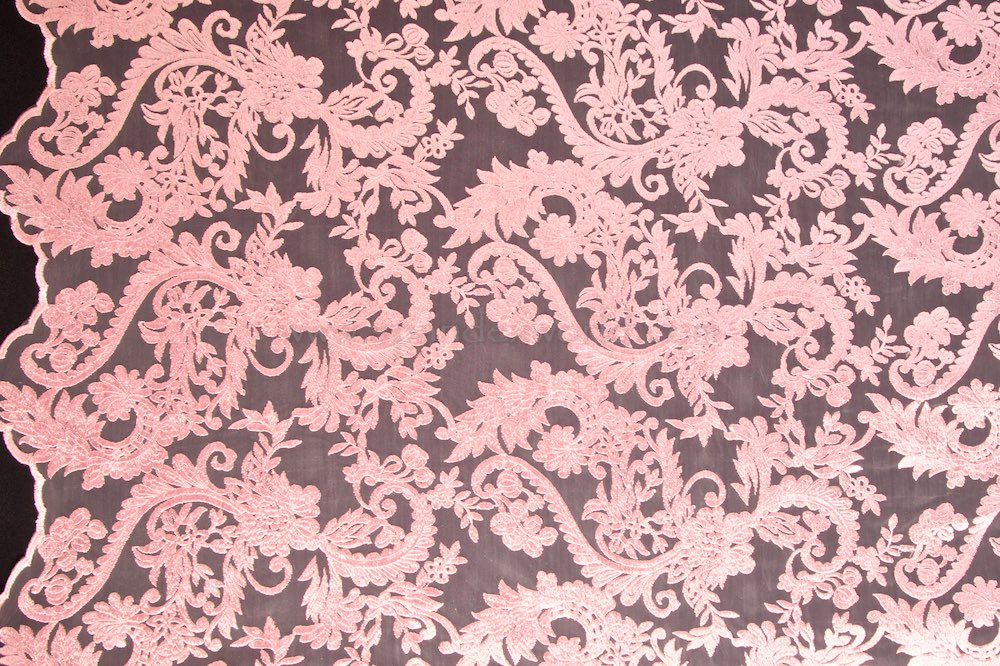 Non-Stretch Lace (Light Pink/Light Pink)
