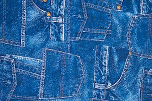 Printed Denim (Blue)