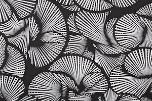 Abstract Print Spandex (Black/White/Silver)