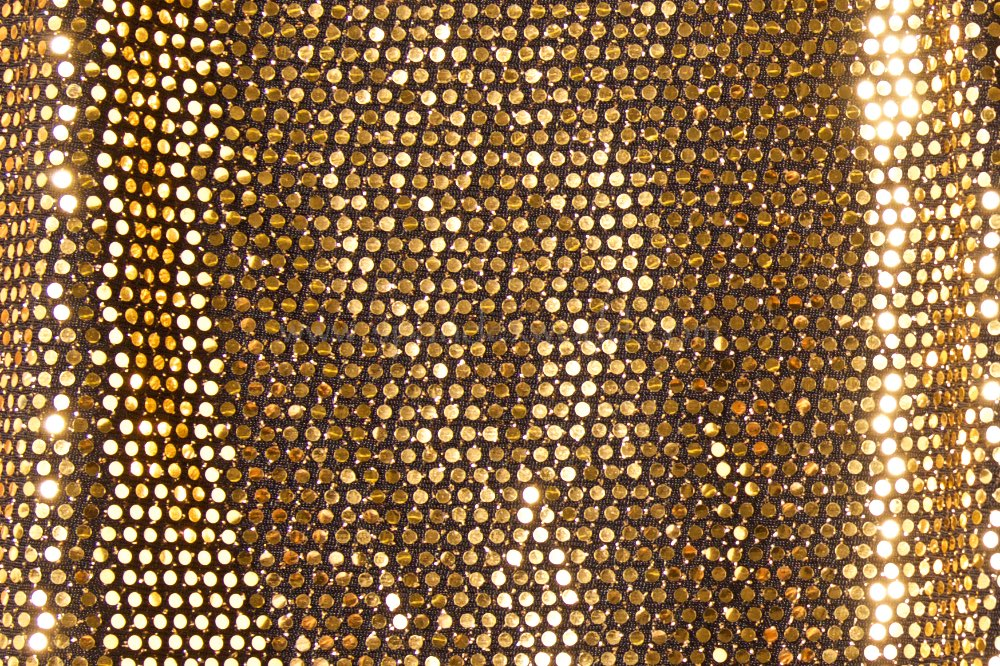 Stretch Sequins (Black/Gold)