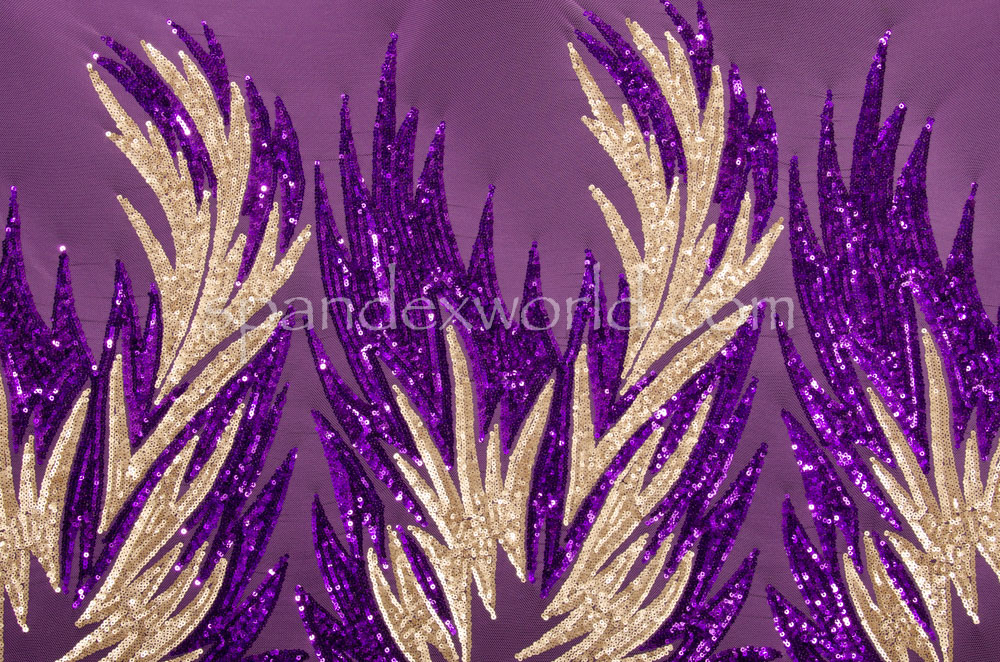 Stretch Sequins (Gold/Purple)