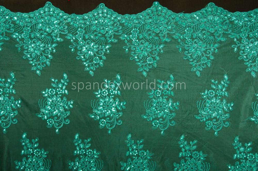 Non-Stretch Sequins (Hunter Green)