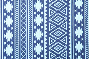 Printed Cotton Lycra® (Blue/Light Blue)