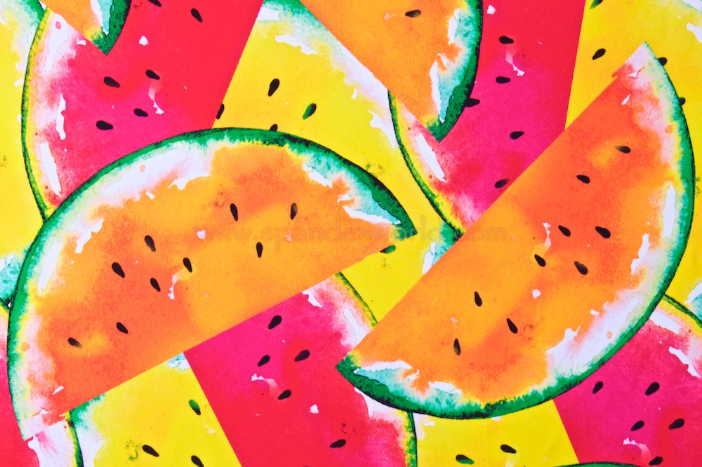 Printed Spandex (Watermelon)