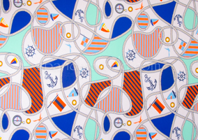 Abstract Prints(White/Orange/Blue Multi)