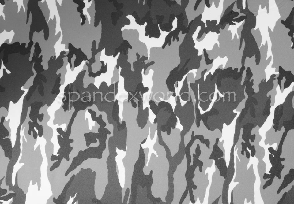Printed Camouflage (Black/White/Grey)