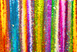 Reversible Stretch Rainbow Sequins (Gold/Multi)