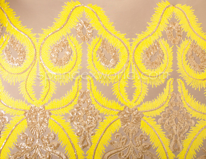 Stretch Sequins (Yellow/Gold/Yellow)