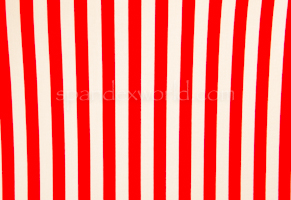 Printed Stripes  Poly spandex 1/2'' (Red/White)