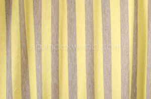 Stripes Rayon Lycra® 1'' Wide (yellow/Grey)