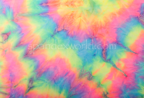 Tie dye spandex (Blue/Yellow/Multi)