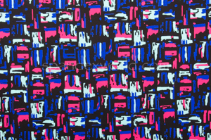 Printed Spandex (Black/Fuchsia/Royal/Multi)