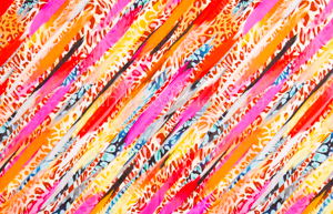 Printed Spandex (Orange/Fuchsia/Multi)