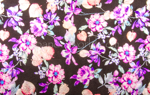 Metalic Floral Print (Black/Multi)