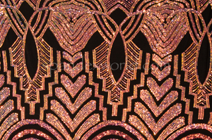 Stretch Sequins (2 Tone Peach/Black)