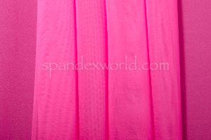 Stretch Solid Mesh-shiny (Hot  Pink)