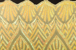 Stretch Sequins (Yellow/Yellow Pearl)