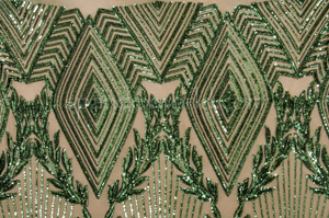 Stretch Sequins (Dark Green/ Dark Green Pearl)