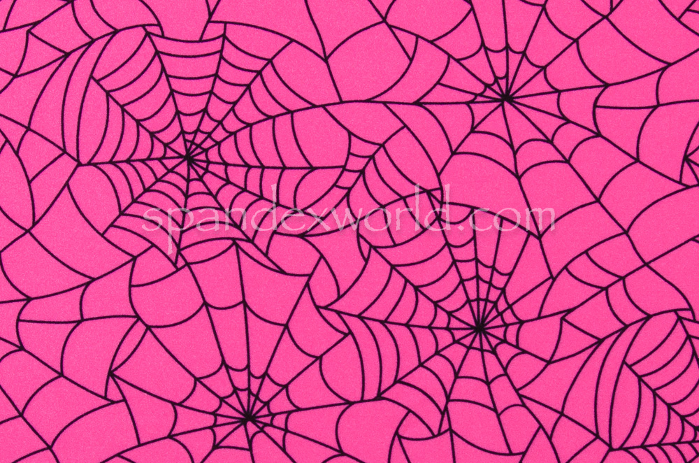 Spider  Prints  (Hot Pink/Black)