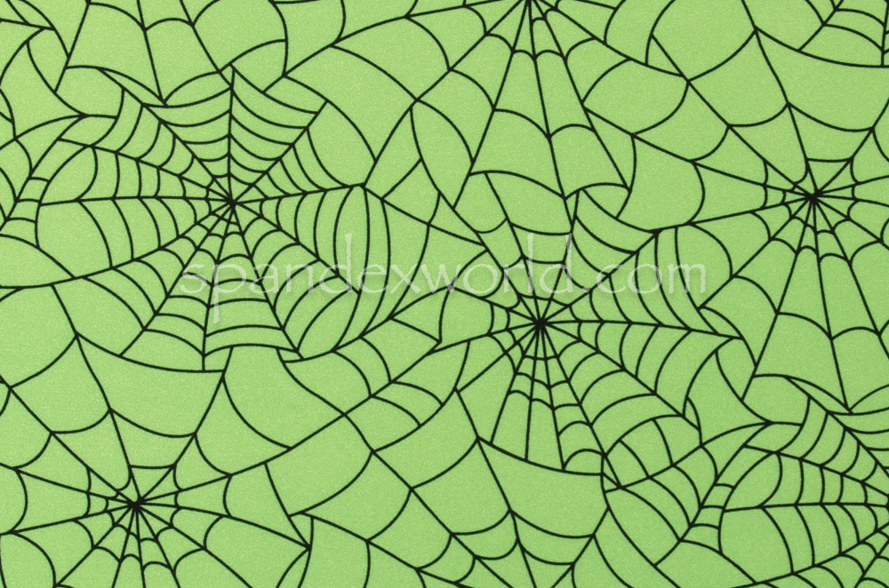 Spider  Prints  (Lime/Black)