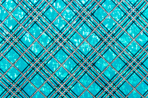 Pattern/Abstract Hologram (Turquoise/Silver/Black)