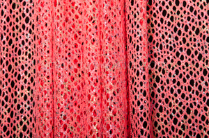 Metallic Fishnet (Hot Pink/Multi)