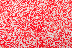 Paisley Print (White/Red)