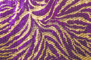 Non-Stretch Sequins (Purple/Gold)