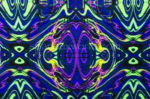Abstract Print Spandex (Purple/Neon/Multi)