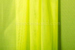Stretch Solid Mesh -Shiny (Neon Yellow)