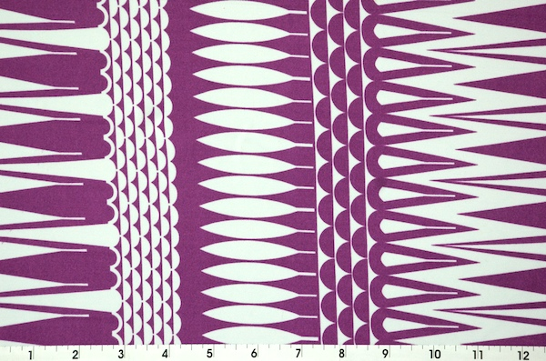Printed Spandex (Lt. Purple/White)