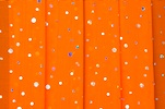 Glitter/Pattern Mesh (bright orange/silver)