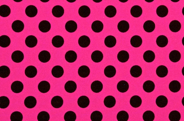 Printed Polka Dots (Hot Pink/Black)
