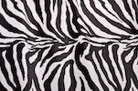 Animal Print Stretch Velvet (Zebra print)