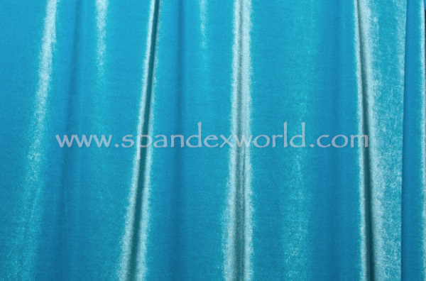 2 Way Stretch Solid Velvet (Turquoise)
