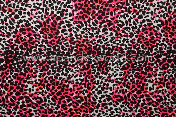 Printed Cotton Lycra® (Pink/Black/Multi)