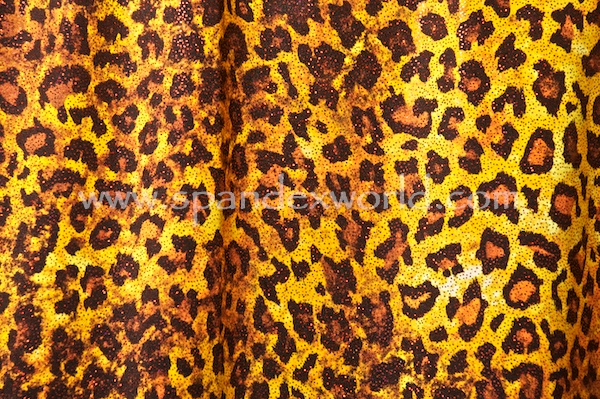 Animal Print Hologram (Gold/Black/Red)