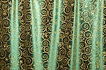 Glitter/Pattern Stretch Velvet (Christmas Green/Gold)