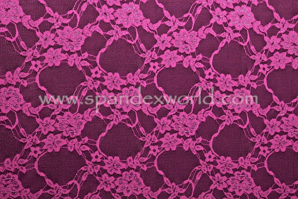 Stretch Lace (Magenta)